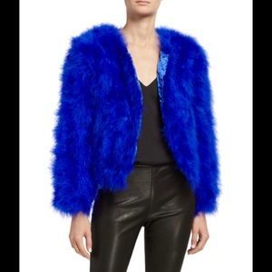 Fox the Label Jacket in Dyed Turkey Feathers